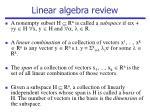 linear algebra review1