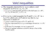 valid inequalities
