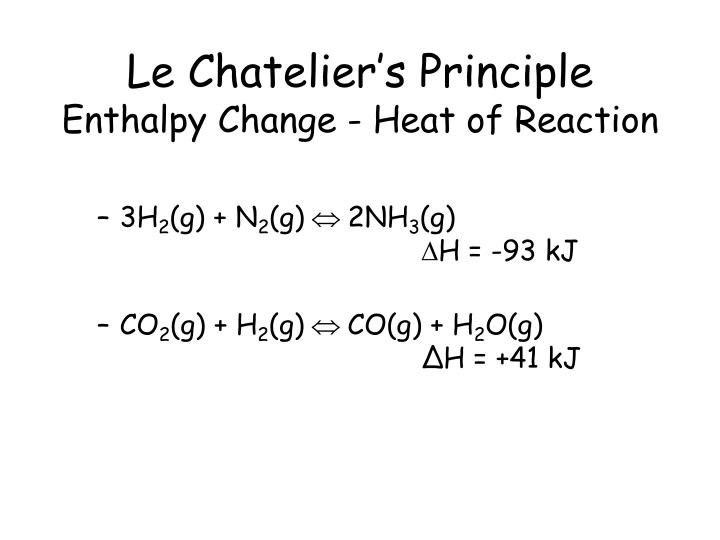 le chatelier s principle equilibrium experiments Le chatelier's principle  in 1884 the french chemist and engineer henry-louis le chatelier proposed one products of a reaction at equilibrium, let's consider.