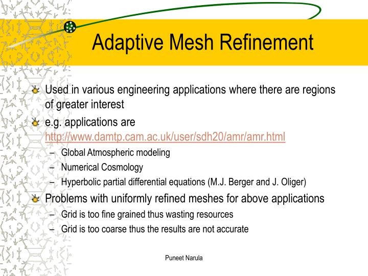 adaptive mesh refinement n.