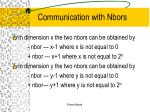 communication with nbors