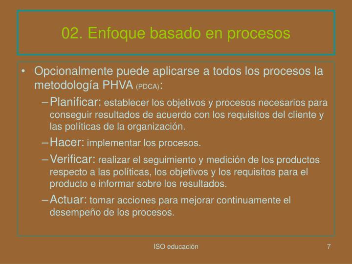 02. Enfoque basado en procesos