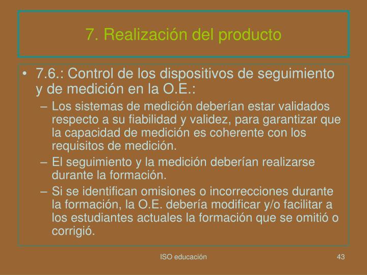 7. Realización del producto