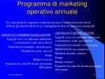programma di marketing operativo annuale