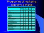 programma di marketing operativo annuale1