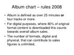 album chart rules 2008