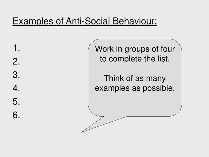 essay about anti-social behaviour Etiology of anti-social behaviour essayssociety must accept responsibility to control anti-social behaviour among adolescents, in order to limit youth violence four theories of child anti-social behaviour are neoclassical, biological, psychological, and the economic/ sociological theory (hoge & an.