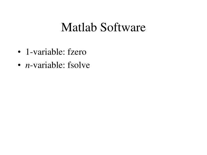 Matlab Software