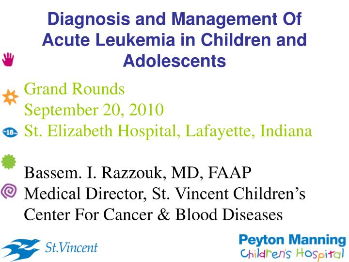 Ppt Diagnosis And Management Of Acute Leukemia In Children And Adolescents Powerpoint Presentation Id 869426