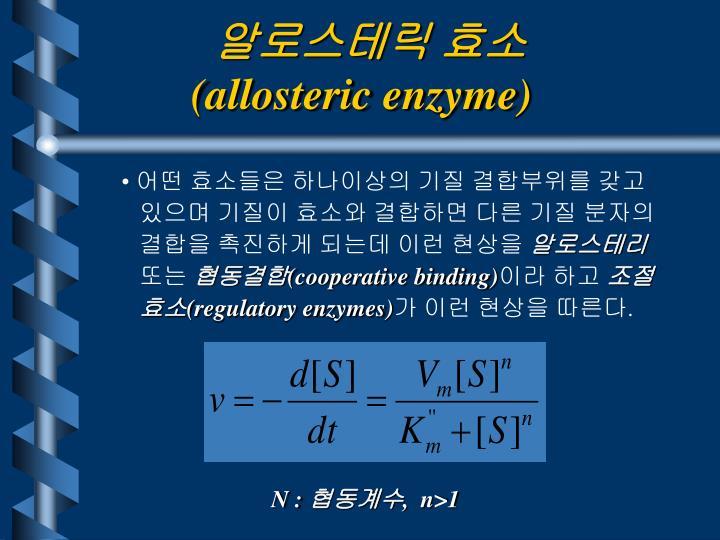 알로스테릭 효소
