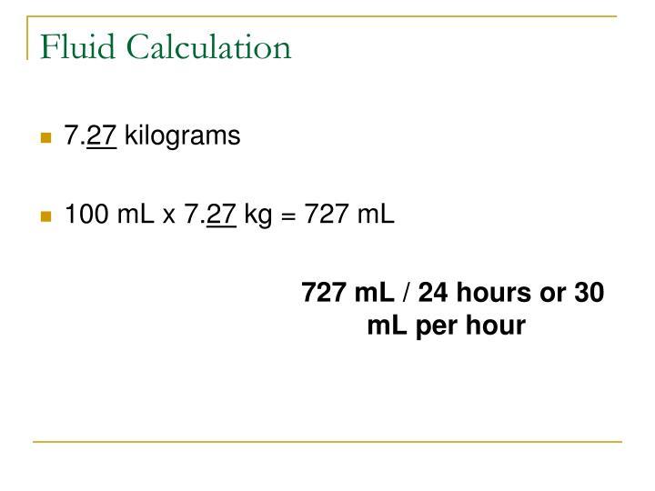 Fluid Calculation