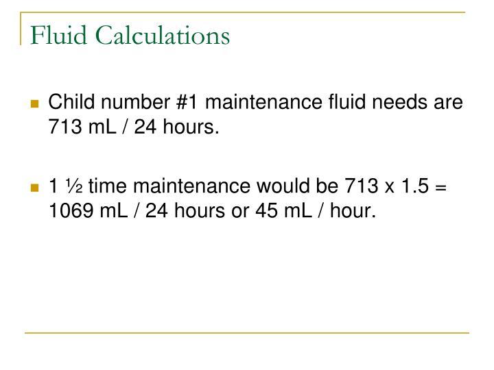 Fluid Calculations