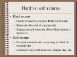 hard vs soft returns
