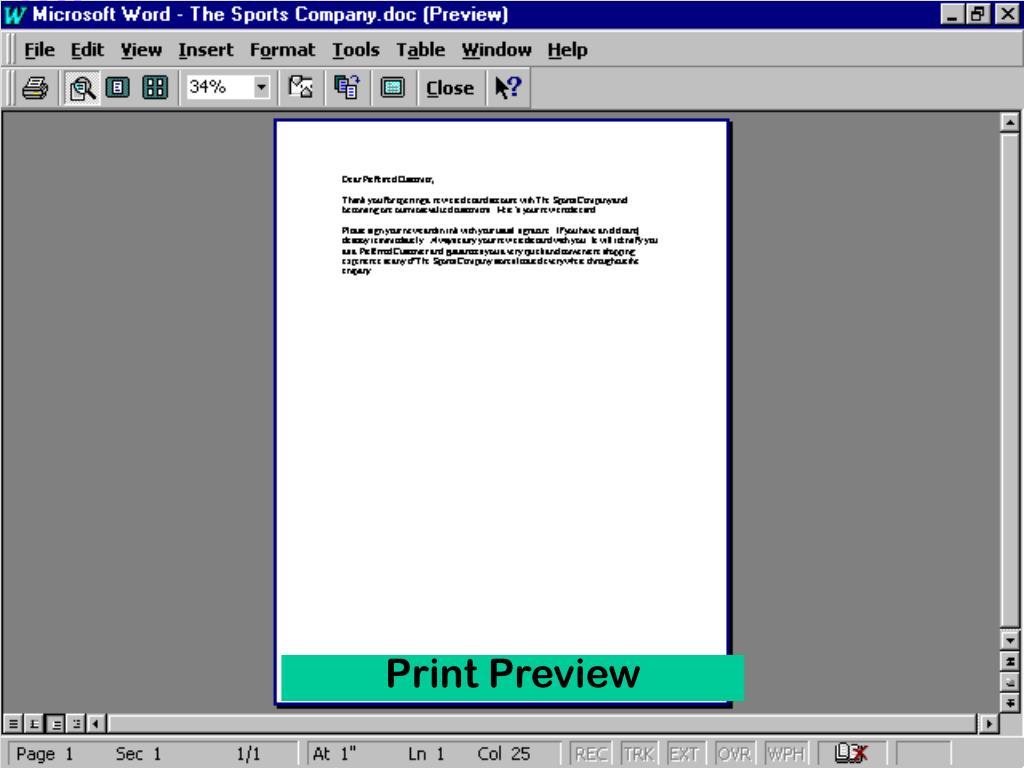 Print Preview