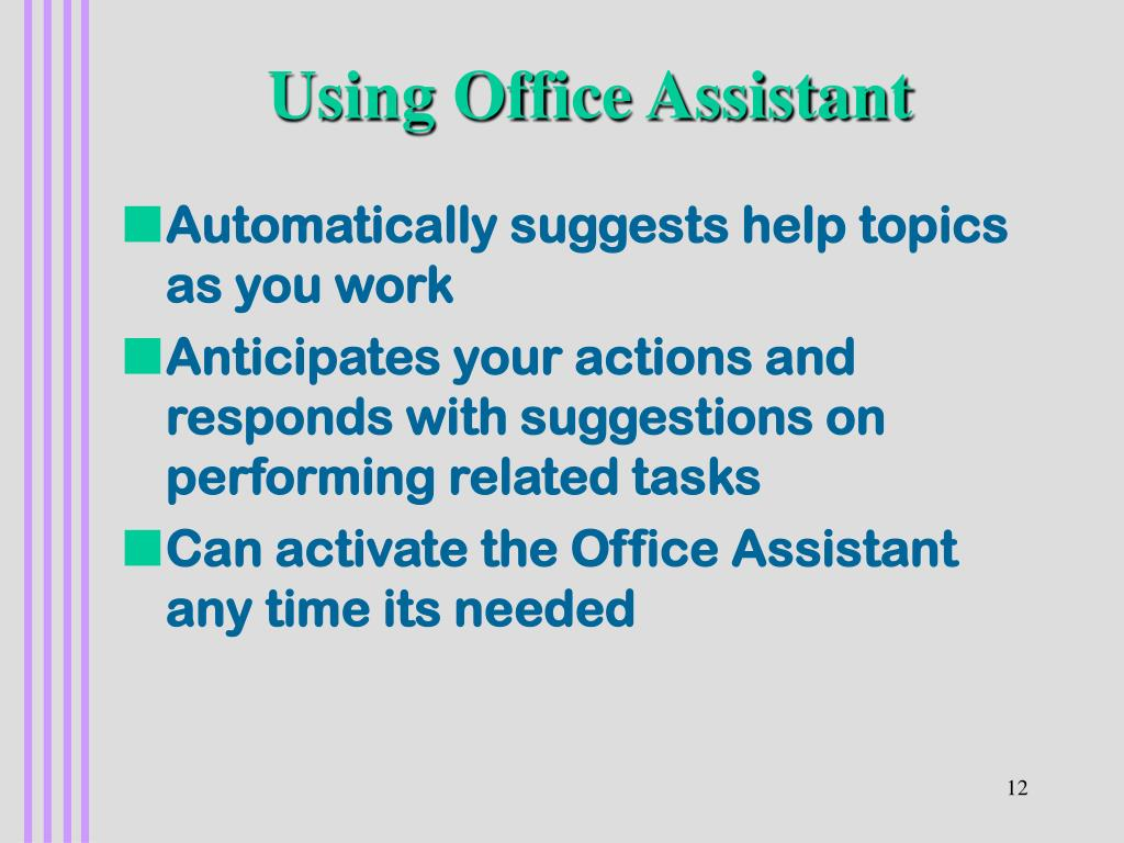 Using Office Assistant
