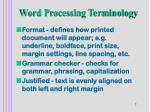 word processing terminology7