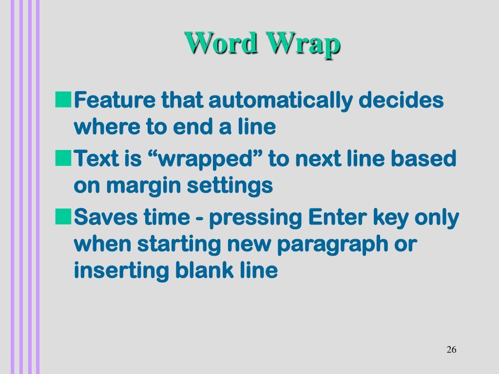 Word Wrap