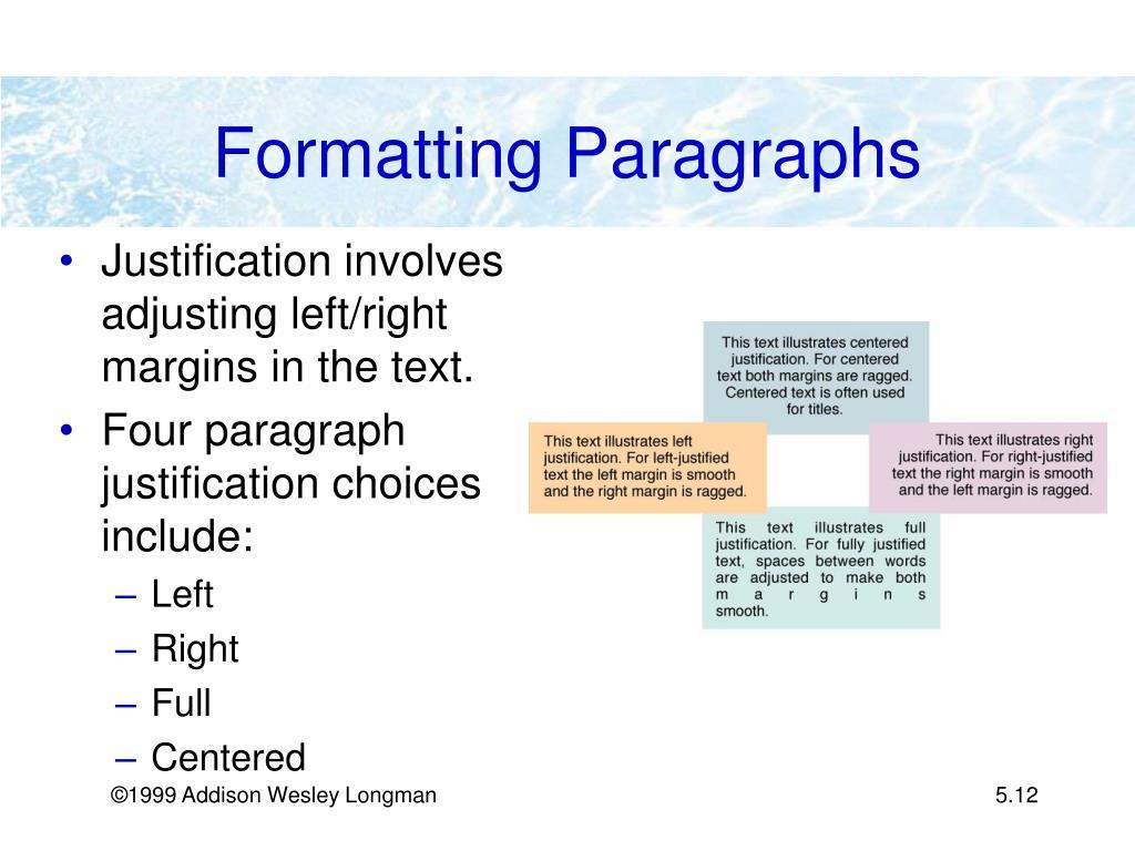 Formatting Paragraphs