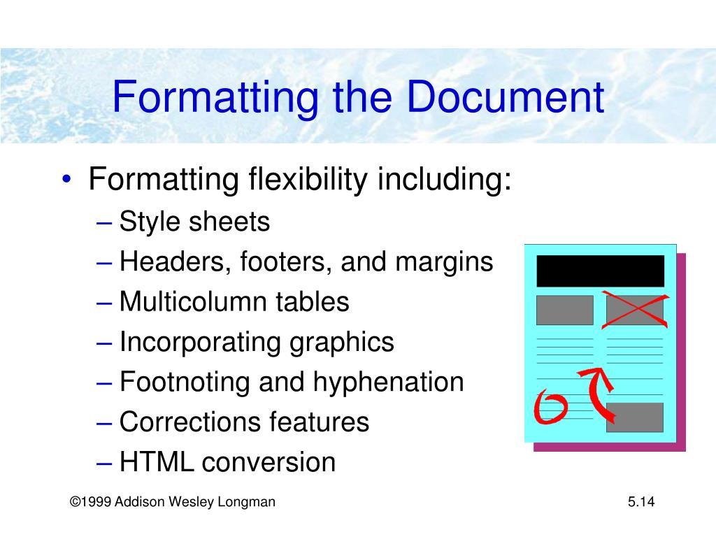 Formatting the Document