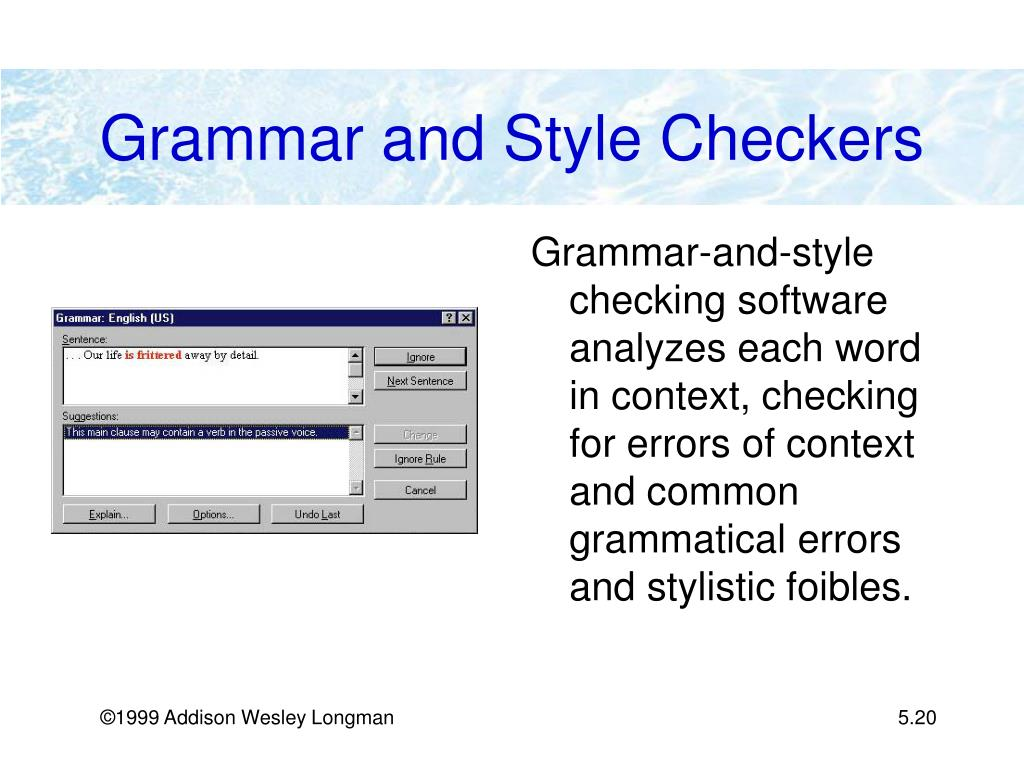 Grammar and Style Checkers