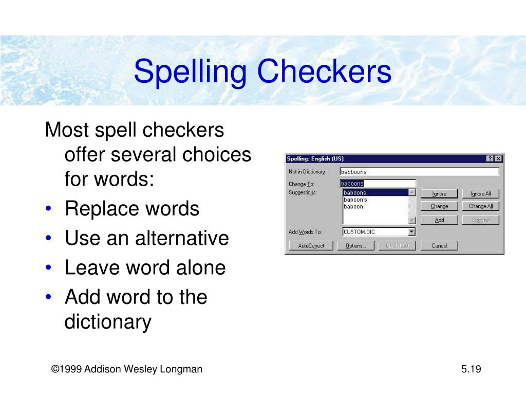 Spelling Checkers