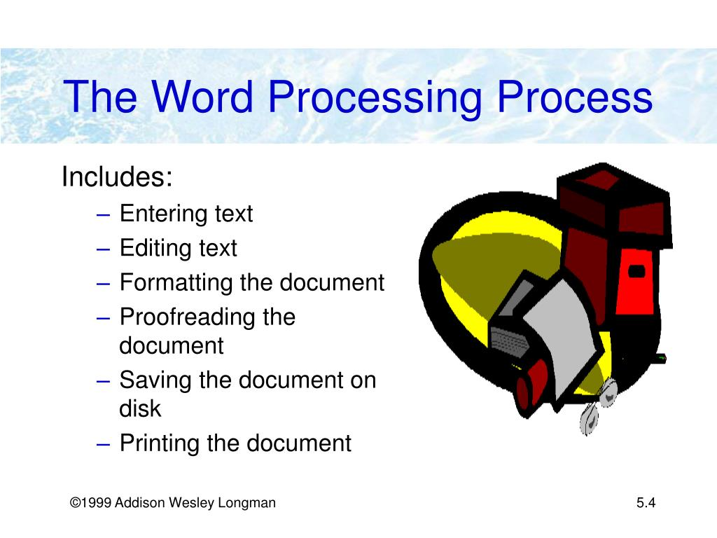 The Word Processing Process