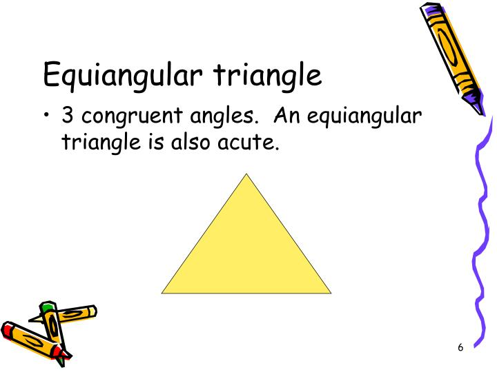 Equiangular triangle