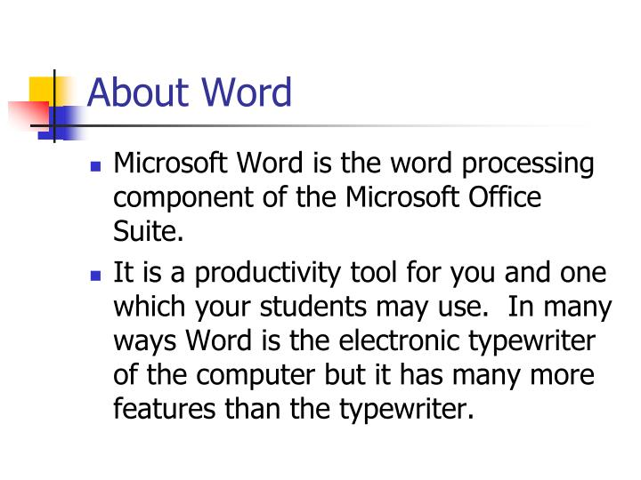 About word