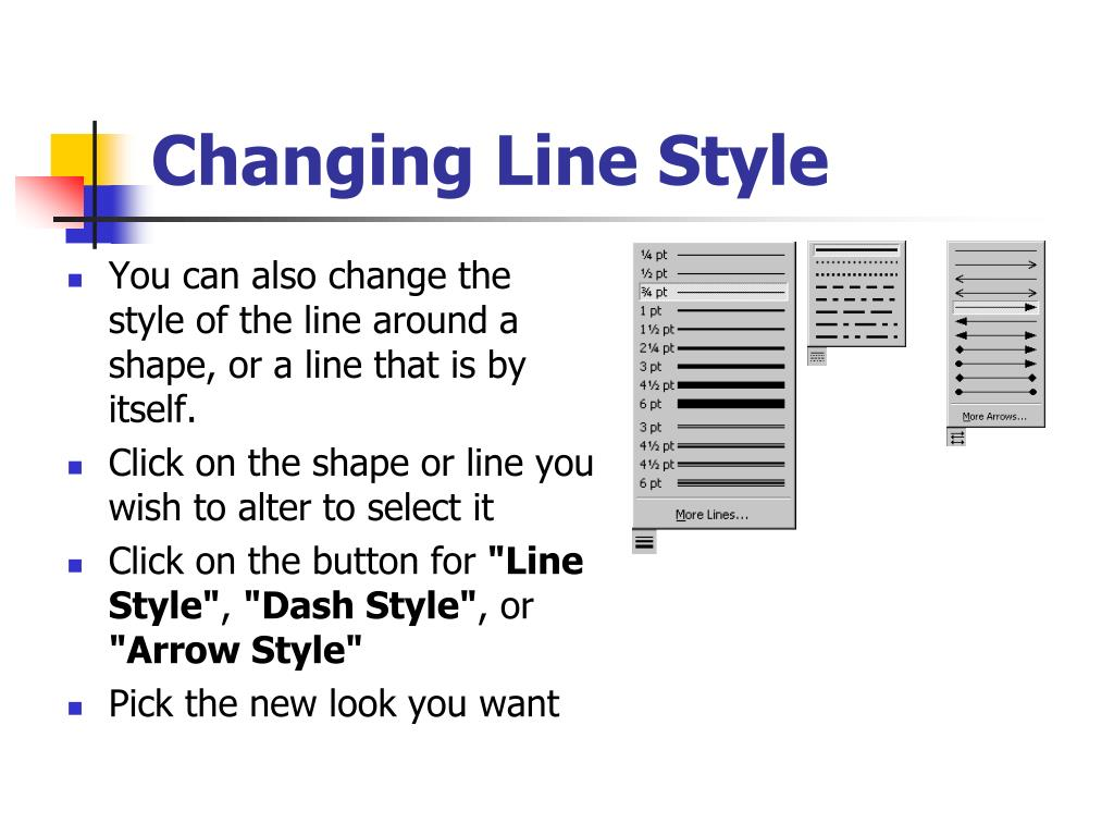 Changing Line Style