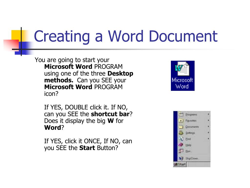 Creating a Word Document
