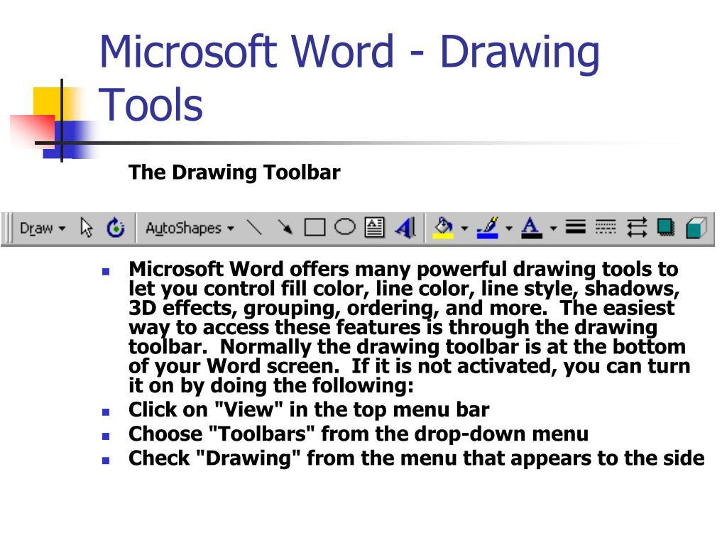 Microsoft Word - Drawing Tools