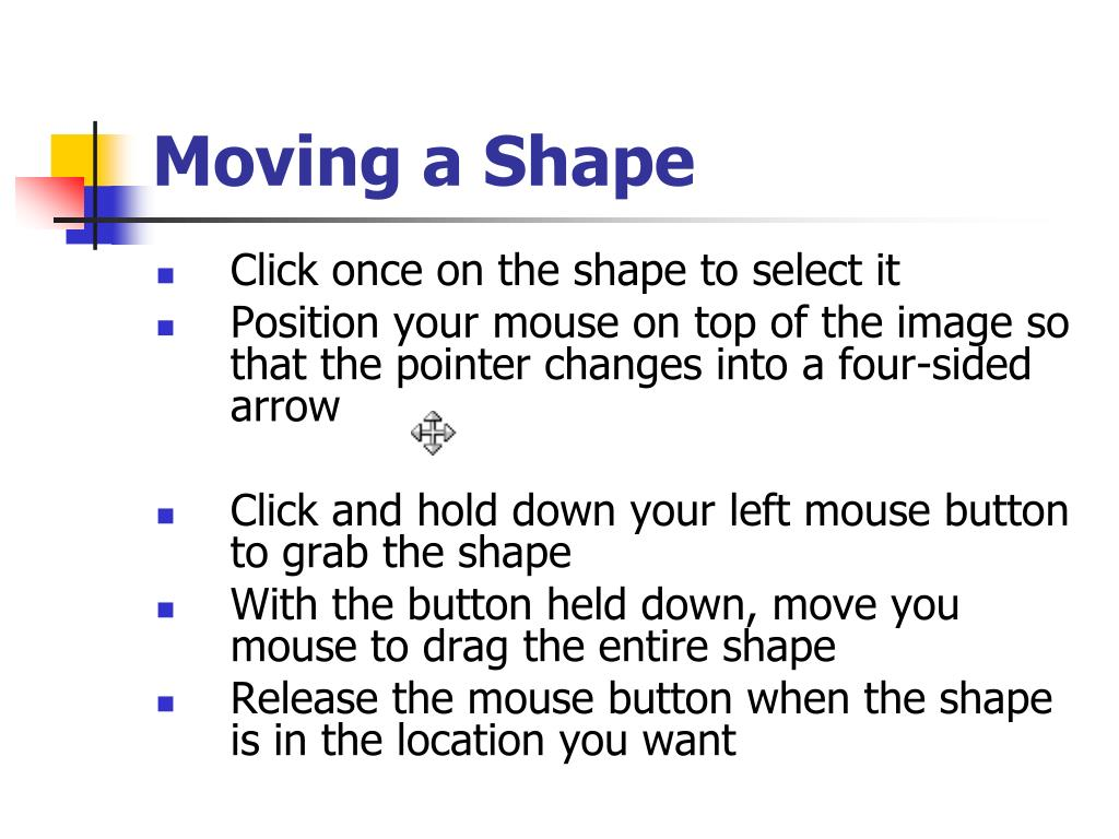 Moving a Shape