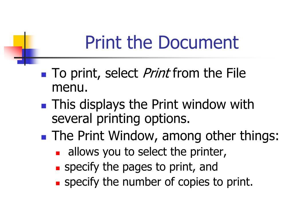 Print the Document