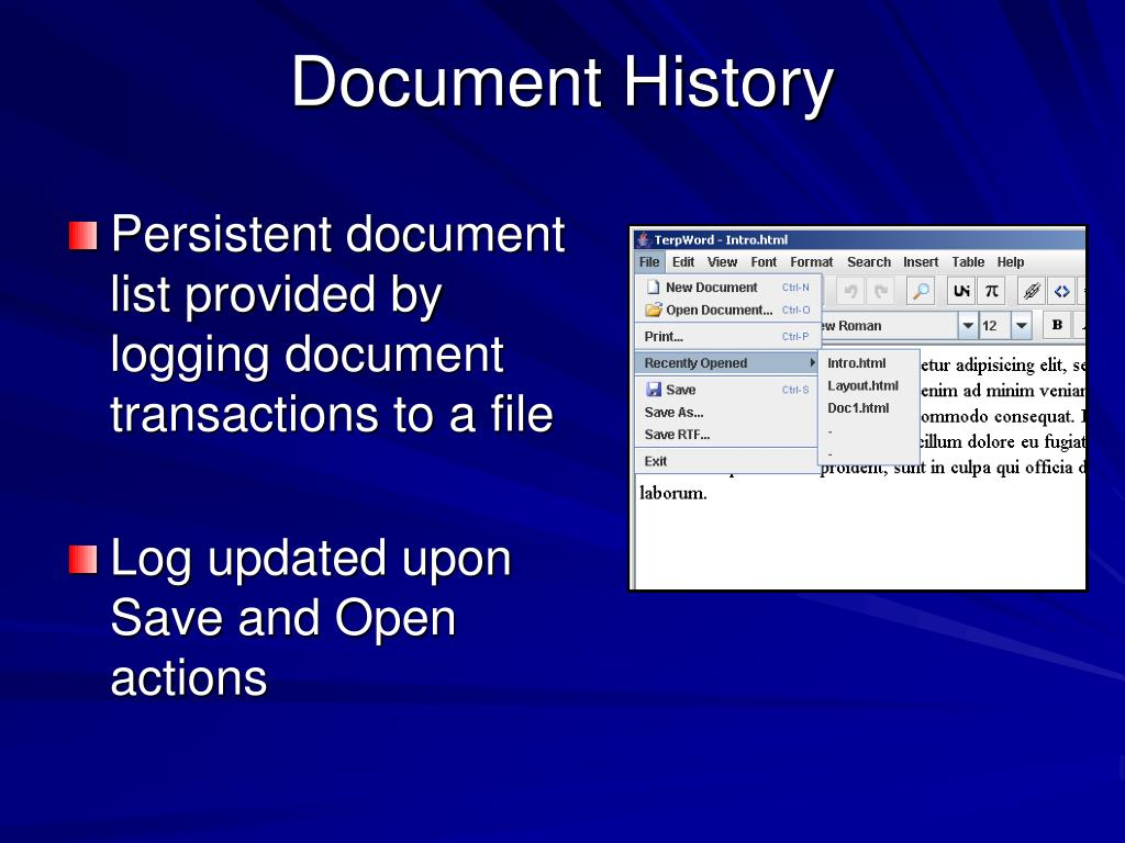 Document History
