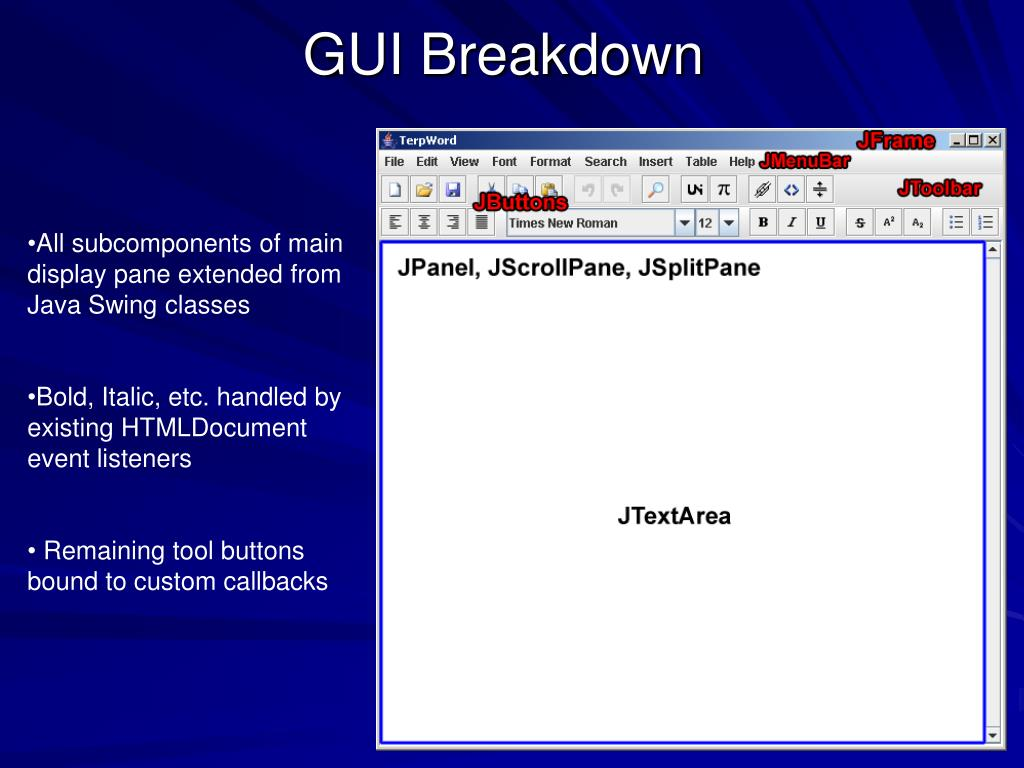 GUI Breakdown