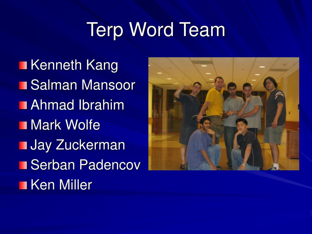 Terp Word Team