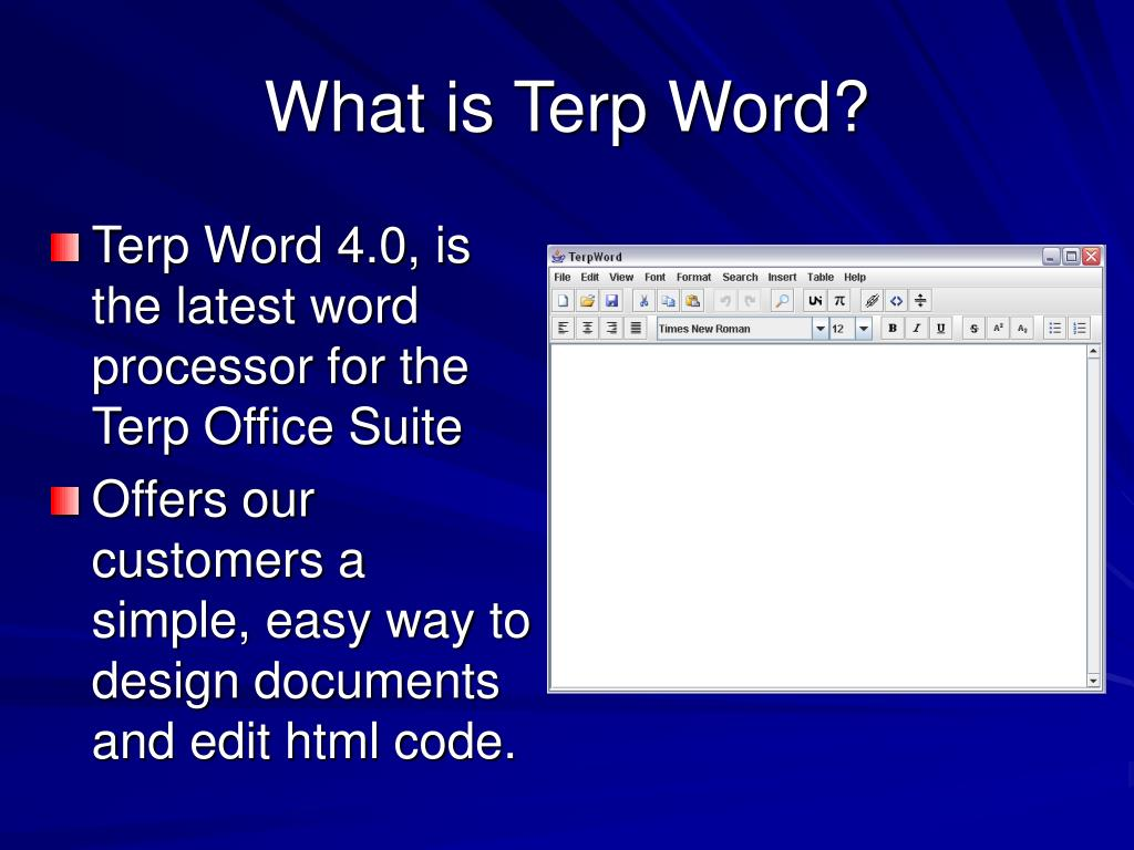 What is Terp Word?