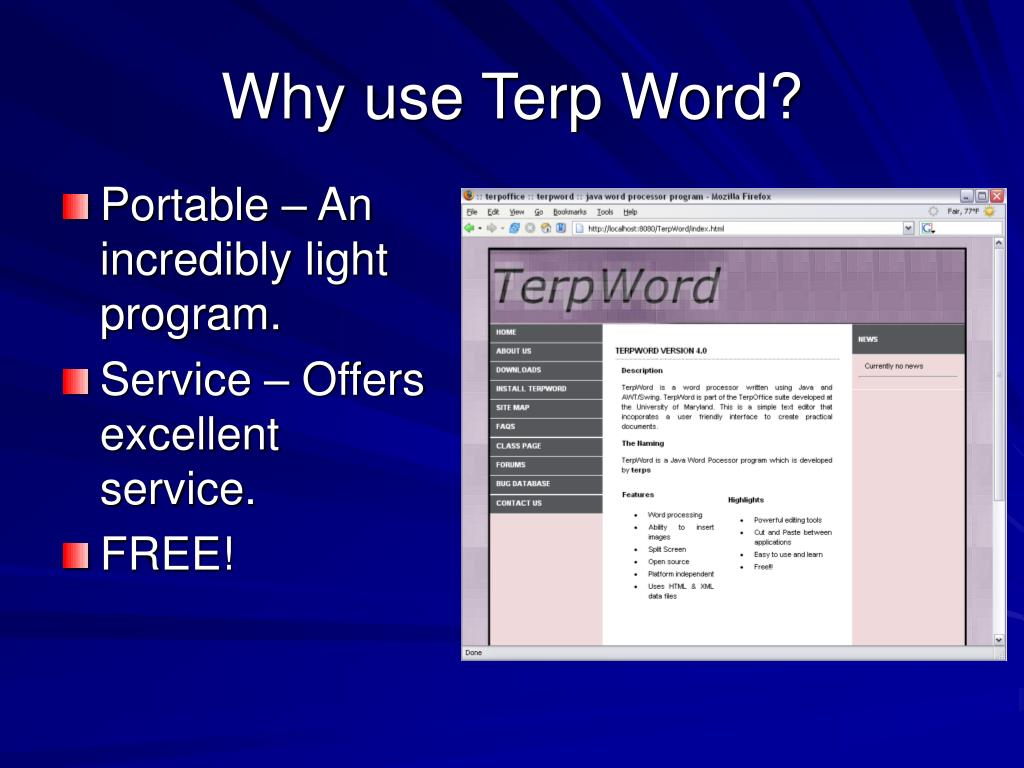 Why use Terp Word?