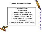 trabajos personales