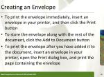 creating an envelope31