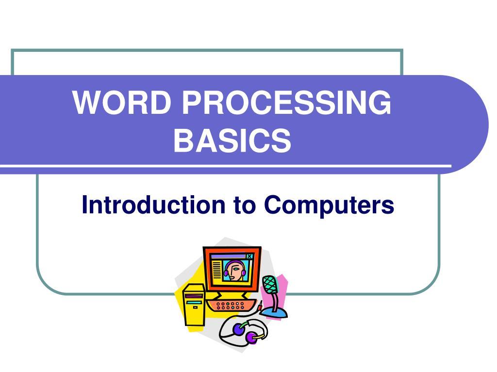 word processing basics l.