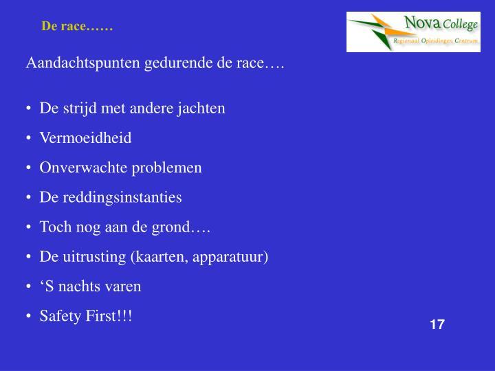 De race……