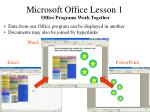 microsoft office lesson 14