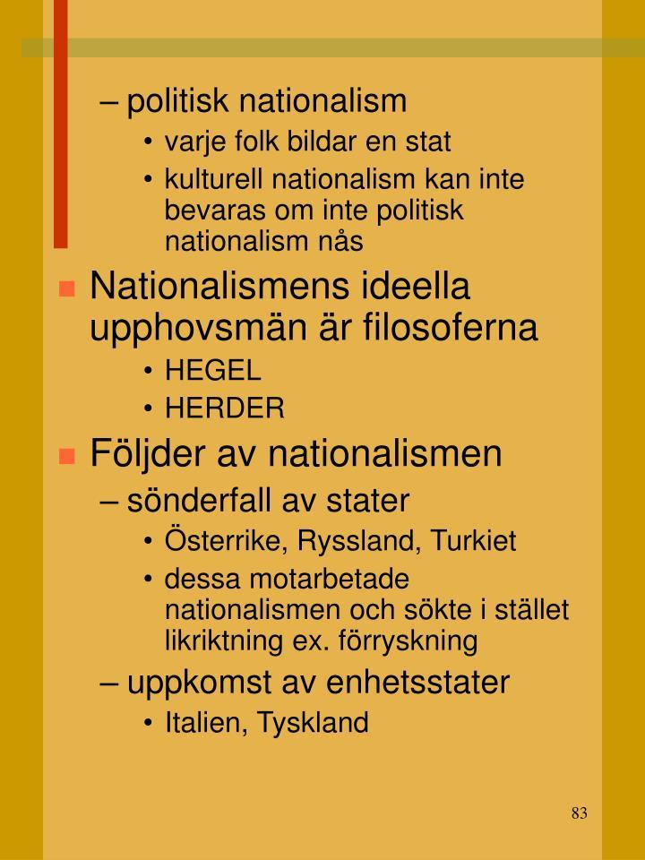 politisk nationalism