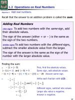 1 2 operations on real numbers