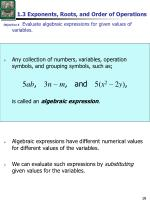 1 3 exponents roots and order of operations2