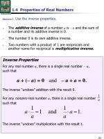 1 4 properties of real numbers1