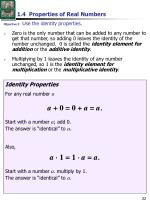 1 4 properties of real numbers2