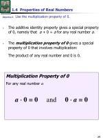 1 4 properties of real numbers4