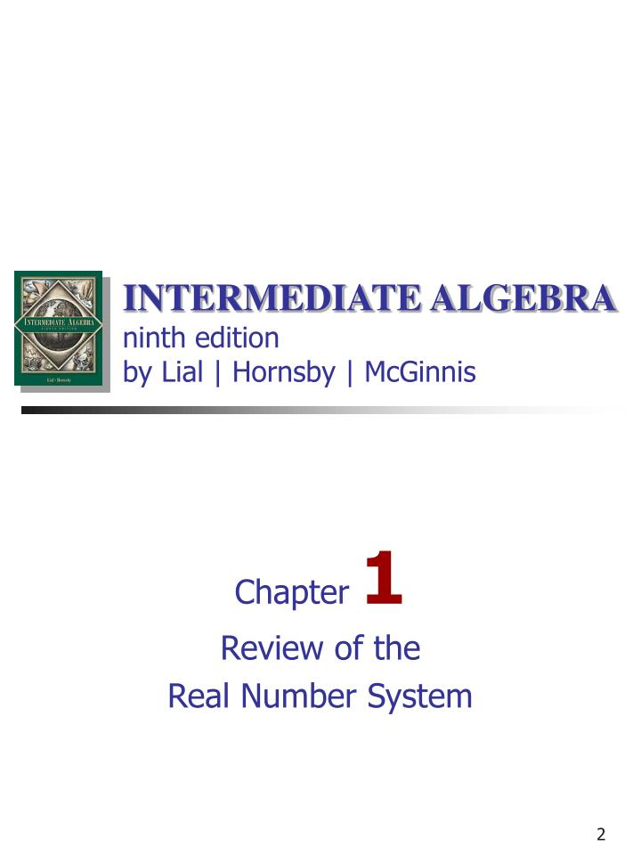 algebra real number and review chapter